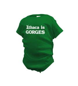 INFANT Ithaca Is Gorges Green Onesie