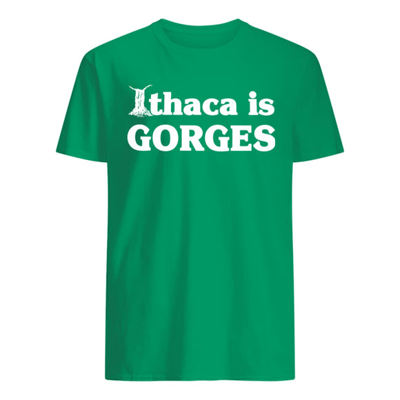 ADULT Ithaca Is Gorges Green T-shirt