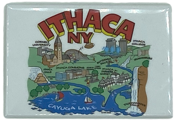 Ithaca Cartoon Magnet