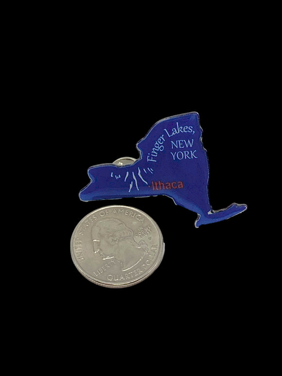 Lapel Pin NY Finger Lakes Ithaca