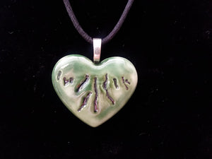 Pendant Necklace - Green Heart of the Finger Lakes