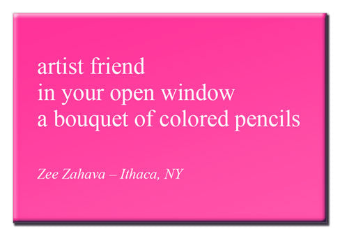 Artist Friend - Haiku Magnet Series