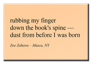 Rubbing My Finger - Haiku Magnet Series