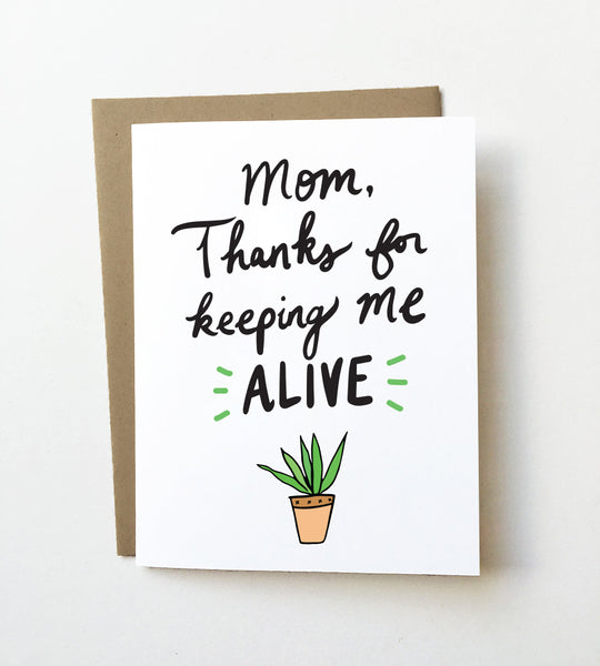 Green thumb - Funny Mother's day card