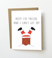 Help I've fallen - Funny Christmas card - NEW