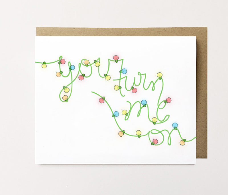You turn me on - Sexy Christmas card