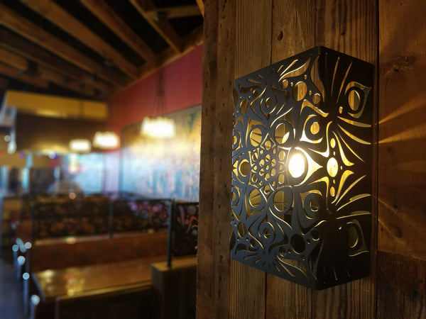 Sconce Lighting Interior Restaurant Custom Metal Design Hospitality