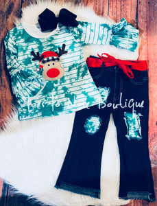 Reindeer Denim Set