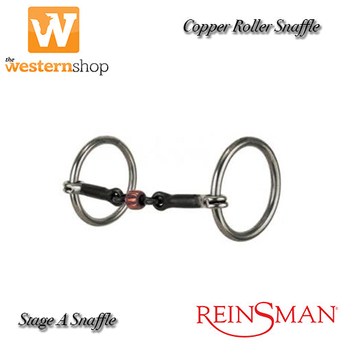 Reinsman Loose Ring 152 Copper Roller Snaffle