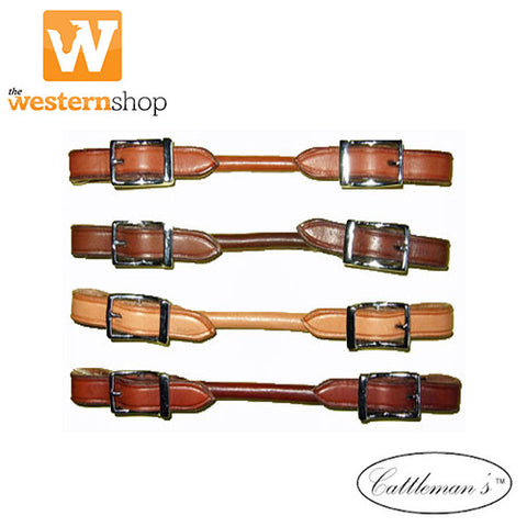 Cattlemans Rolled Leather Curb Strap