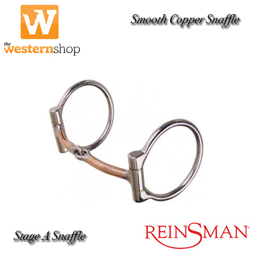 Reinsman 225 Smooth Copper Snaffle