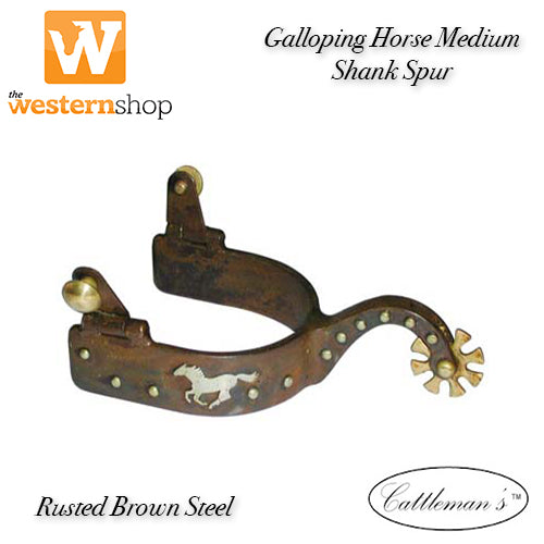 Cattleman's Rusted Brown 'Galloping Horse' Spurs
