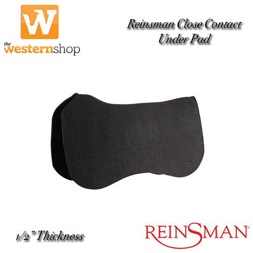 Reinsman Close Contact Black Felt Under Pad