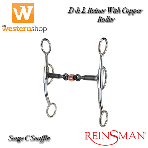 Reinsman 751 D & L Reiner With Copper Roller Shank Bit