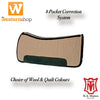 E. A. Mattes Saddle Pad '8 Pocket' Correction System Pad**