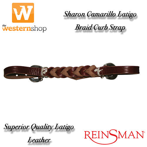 Reinsman Sharon Camarillo Latigo Braid Curb Strap
