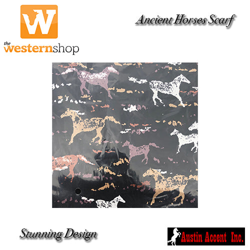 Western Wild Rags 'Ancient Horses' Scarf