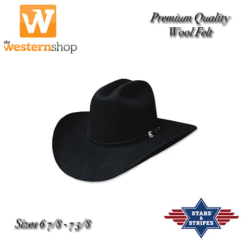 Stars & Stripes 'Appaloosa' Black Western Hat