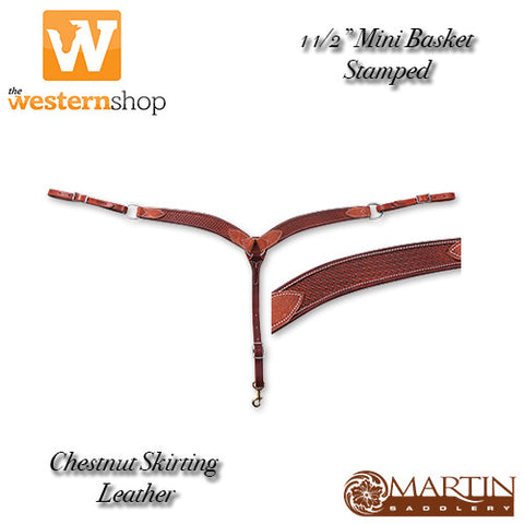 "Martin Saddlery 1 1/2""Mini Basket Breast Collar"