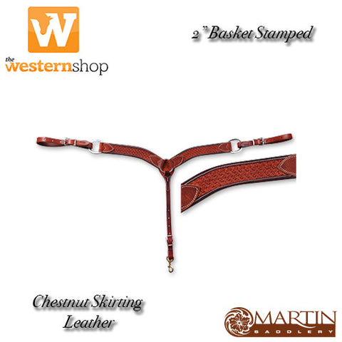 "Martin Saddlery 2"" Basket Stamped Breast Collar"