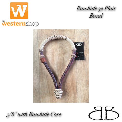 Buckaroo Braided Natural Rawhide Bosal