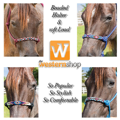 Professional's Choice Beaded Rope Halters - 2018 Colours
