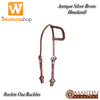 Martin Saddlery Rockin Out Bronc Sliding Ear Headstall