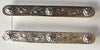 Austin Accent Silver Saddle Blanket Bars With Silver Floral Rossettes - Pair