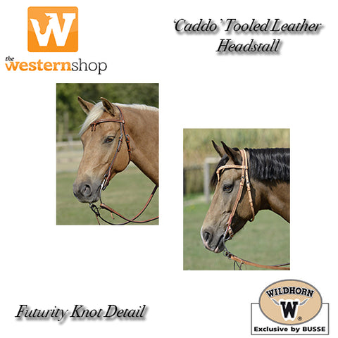 Wildhorn 'Caddo' Tooled Leather Futurity Knot Headstall