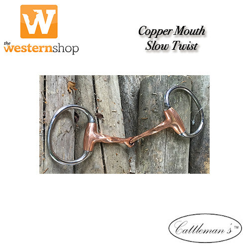 Cattleman's Hunter Slow Twist Copper Snaffle