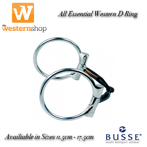 Busse D Ring Snaffle Bit