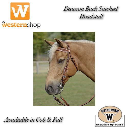 Wildhorn 'Dawson' Basketweave & Buckstitch Browband Headstall