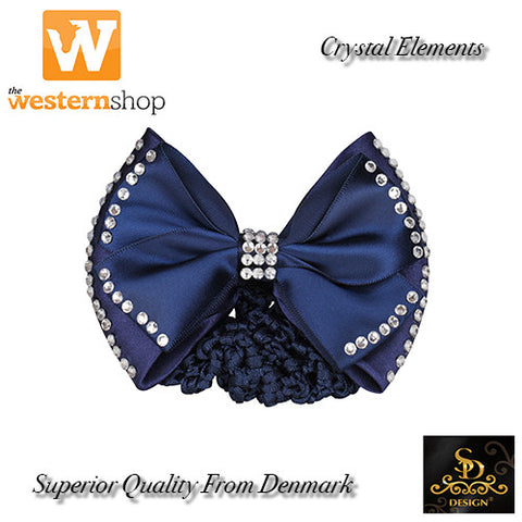SD Design Diamond Hair Bow with Net