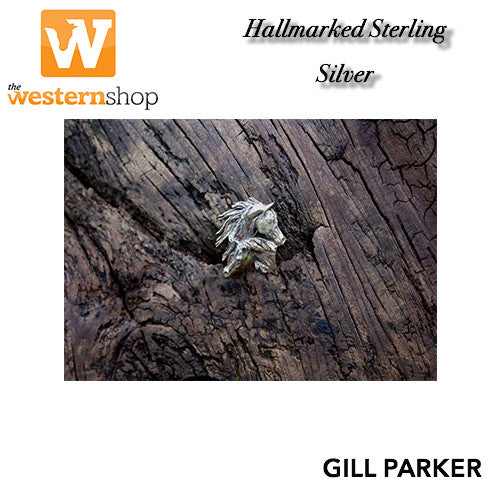 Gill Parker 'Double Horse Head' Brooch
