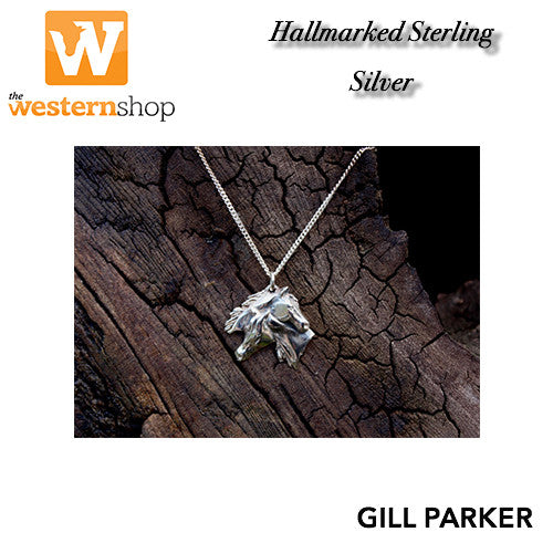 Gill Parker 'Double Horse Head' Necklace