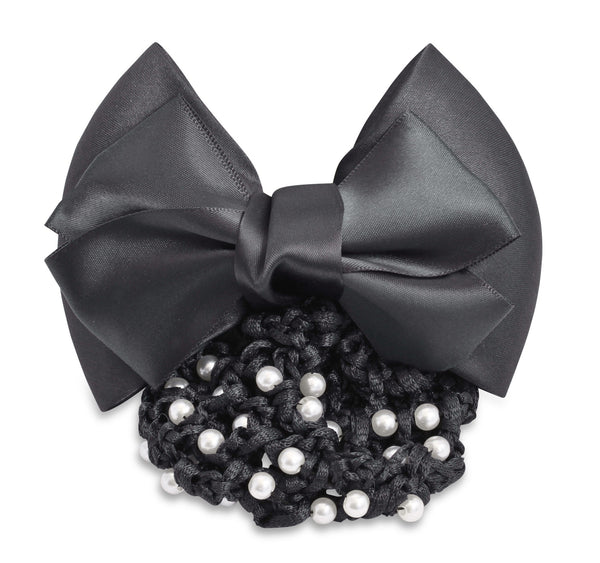SD Design Hair Bow with Pearl Net