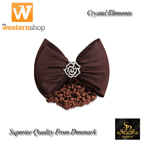 SD Design Swarovski® Crystal Flower Bow & Net