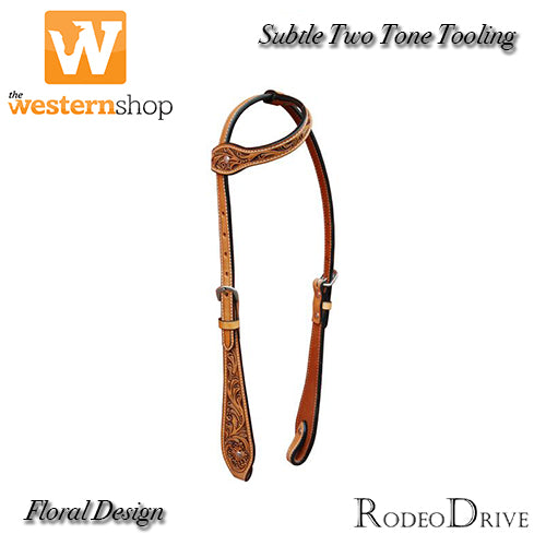 Rodeo Drive 'Floral' Wide Cheek Single Ear Headstall
