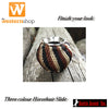 Chocolate, Black & Tan Horsehair Scarf Slide