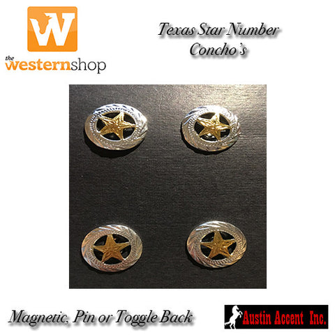 Austin Accent Texas Star Number Concho's