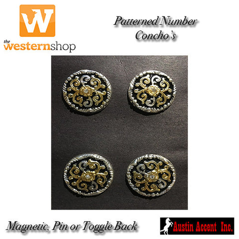 Austin Accent Patterned Number Concho's
