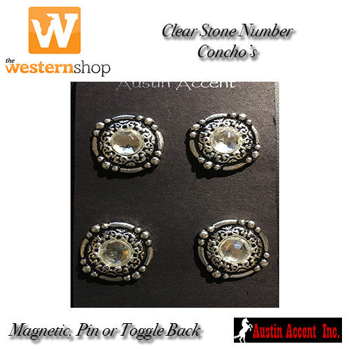 Austin Accent Clear Crystal Number Concho's