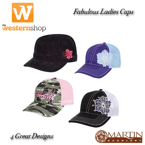 Martin Saddlery Ladies Baseball Caps