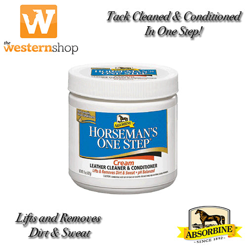 Absorbine Horseman's One Step® Cream Leather Cleaner & Conditioner.