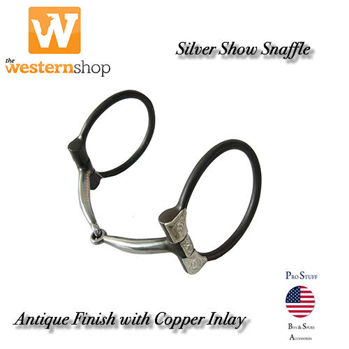 Pro-Stuff Antique Silver Show Snaffle