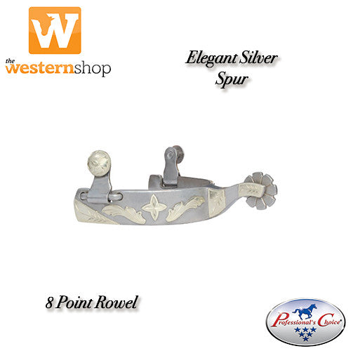 Professional's Choice Silver Spur with 8 Point Rowel