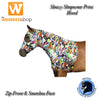 Sleazy Sleepware For Horses Stretch Hood With Zipper - Funky Prints
