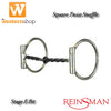 Reinsman 'Golden Glide' Square Twist Sweet Iron Snaffle