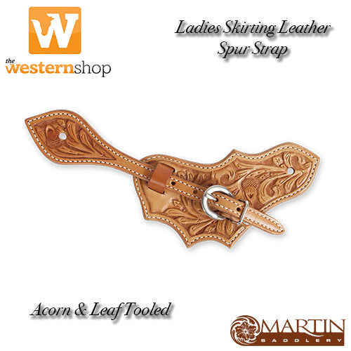 Martin Saddlery Oak Leaf Acorn Tooled Ladies Spur Strap