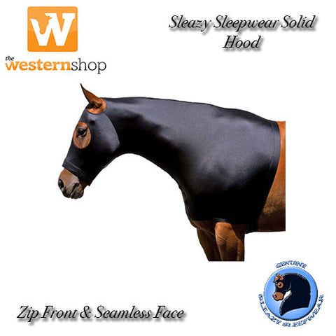 Sleazy Sleepware For Horses Stretch Hood With Zipper - Solid